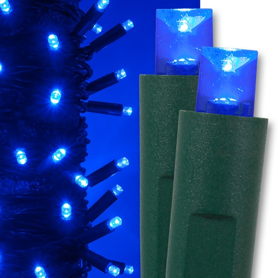 50 Blue Christmas Lights, LED Mini
