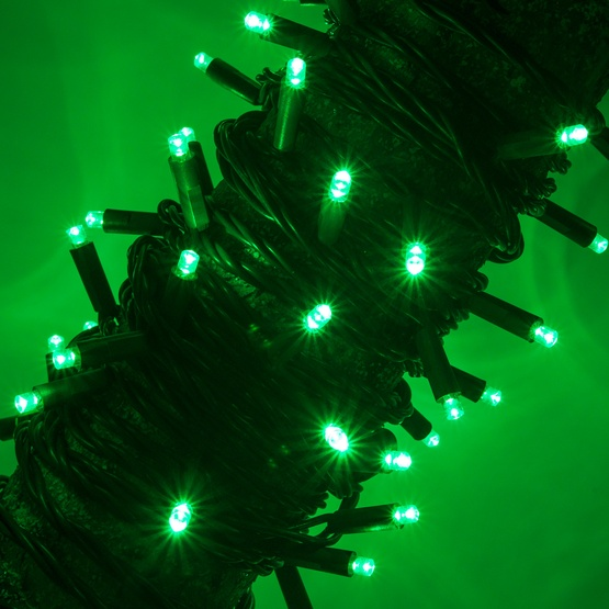 50 Green Outdoor LED Christmas Tree Lights, Mini 5MM
