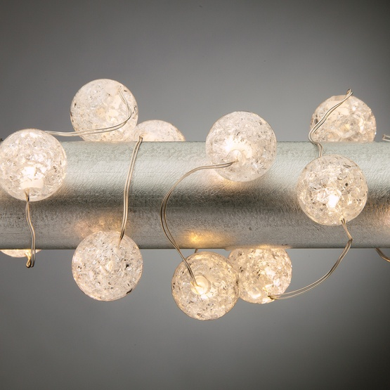 Battery Operated Lights 30 Warm White Le Bead Led Fairy Silver Wire