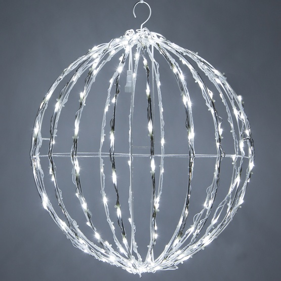 Christmas Light Balls.Cool White Led Christmas Light Ball Fold Flat White Frame