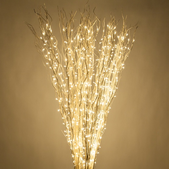 White Lighted Branches with Warm White LED Lights, 1 pc