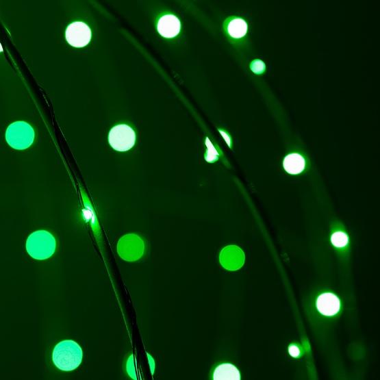 green led fairy christmas light ball fold flat green frame - Christmas Lights Frame