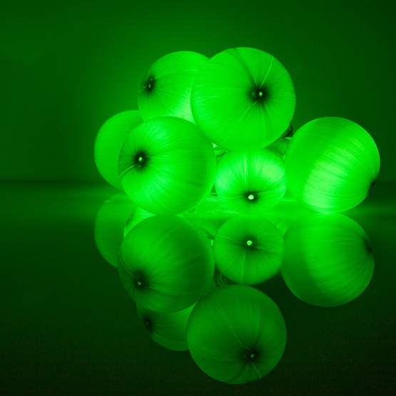 Novelty Lights Battery Operated Green Ball Ornament Light Set 10 Led