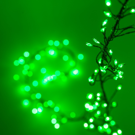 green led fairy garland lights green wire