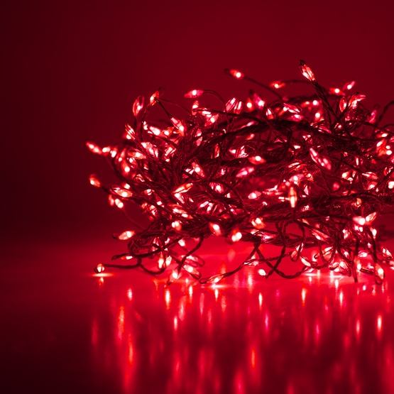 Novelty Lights Red Led Fairy Garland Lights Silver Wire