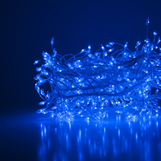 Novelty Lights Blue Led Fairy Garland Lights Silver Wire