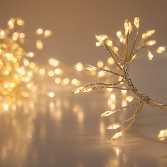 warm white led fairy garland lights silver wire