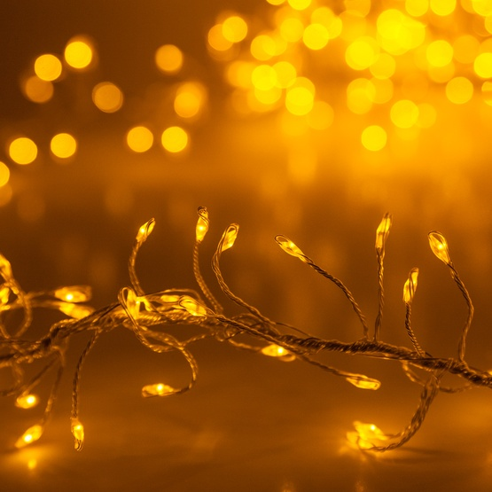 Gold LED Fairy Garland Lights, Gold Wire - Novelty Lights - Gold LED Fairy Garland Lights, Gold Wire