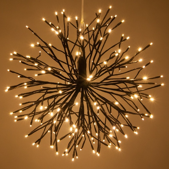 brown starburst lighted branches with warm white led twinkle lights 1 pc. Black Bedroom Furniture Sets. Home Design Ideas