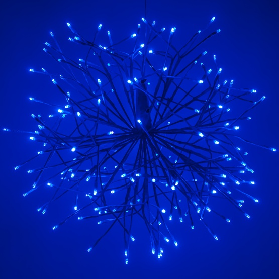 Blue Starburst Lighted Branches with Blue-Cool White LED Lights, 1 pc