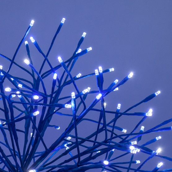 blue starburst lighted branches with blue cool white led lights 1 pc