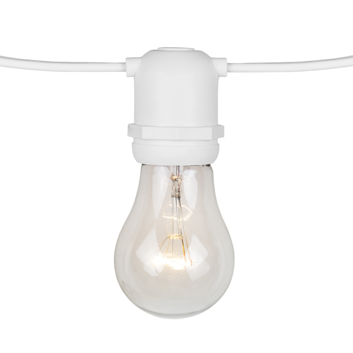 108u0027 Commercial Patio String With 50 A15 Clear Outdoor Patio Lights