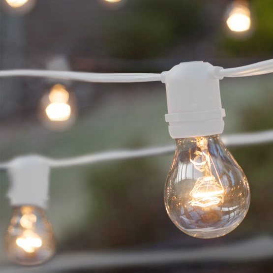 Commercial Clear Patio String Lights, Clear Patio String Lights