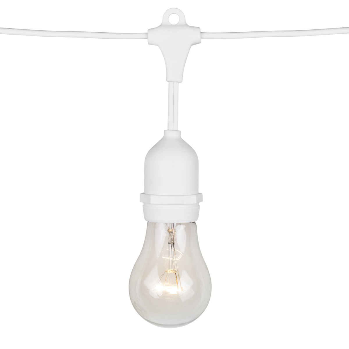 108u0027 Commercial Patio String With 50 Suspended A15 Clear Outdoor Patio  Lights