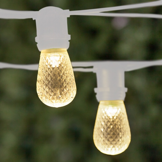 54 Commercial Patio String With 24 S14 Warm White Led Outdoor Lights