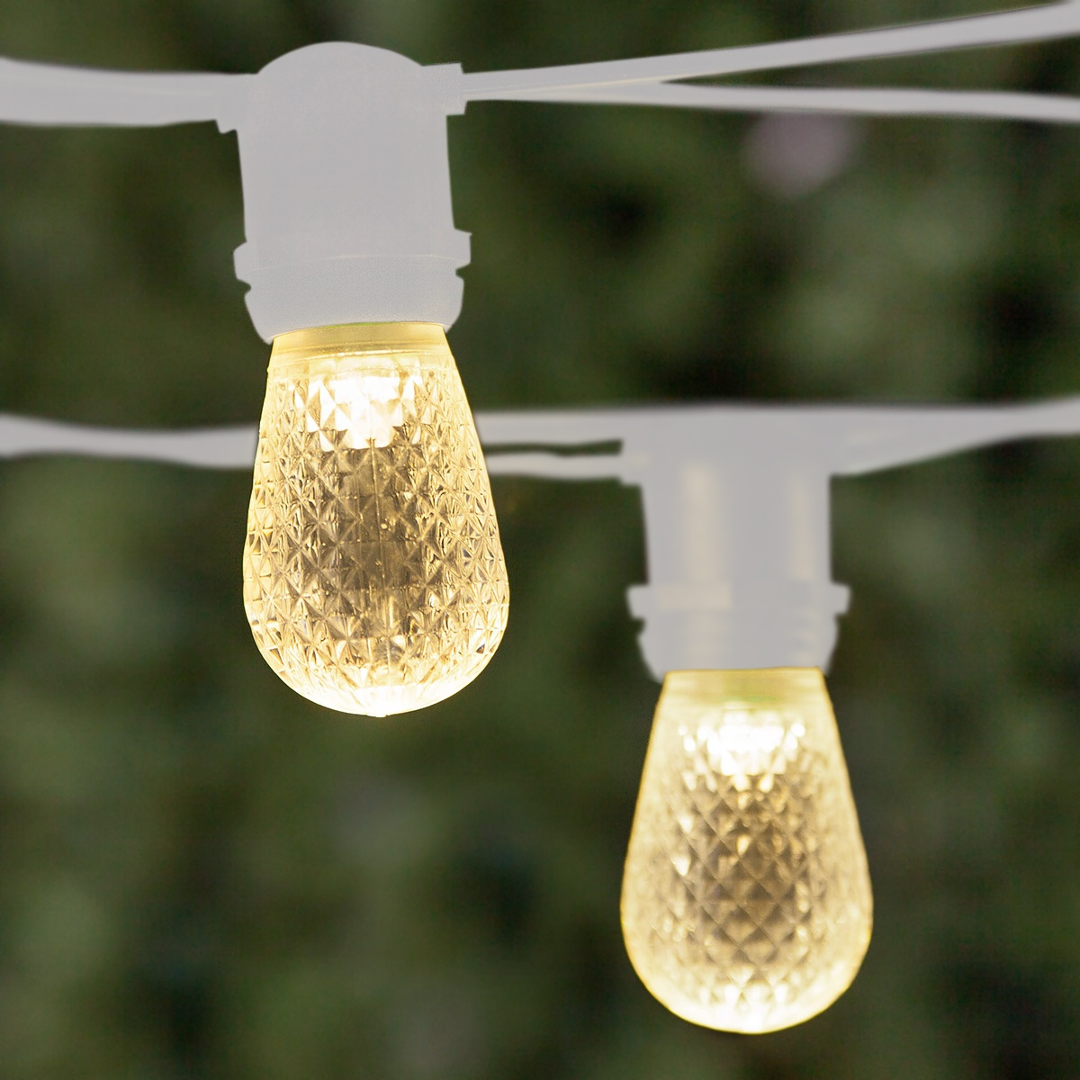 108u0027 Commercial Patio String With 50 S14 Warm White LED Outdoor Patio Lights