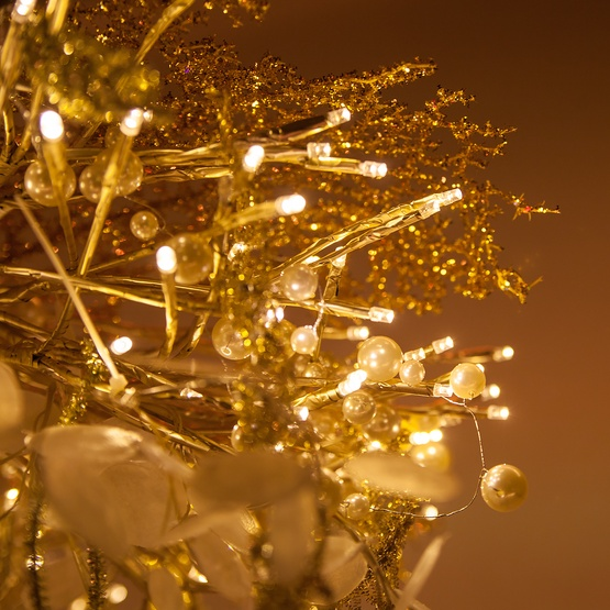 gold starburst lighted branches with warm white led twinkle lights 1 pc