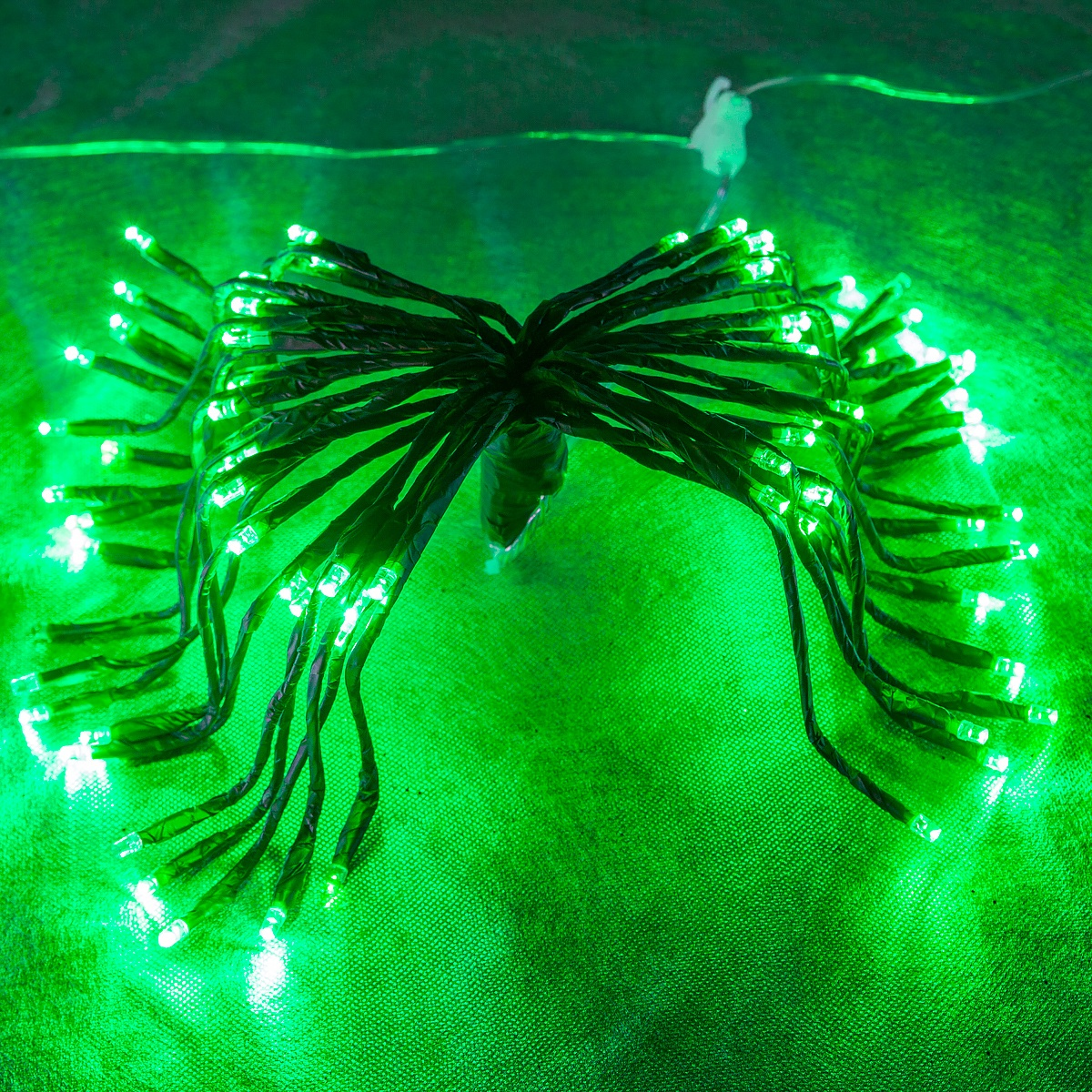 Starburst Lighted Branches with Green LED Twinkle Lights, 3 pc