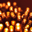 "Commercial 25 5mm Amber LED Christmas Lights, 4"" Spacing"