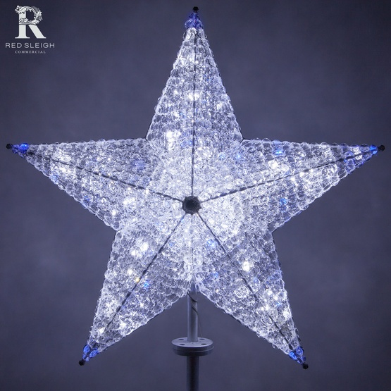 Christmas Decorations 36 Quot Shimmering Cool White Amp Blue