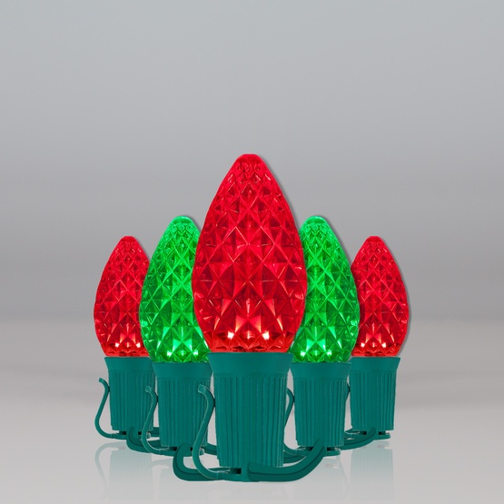 c7 red green opticore tm commercial led christmas string lights - Red And Green Led Christmas Lights