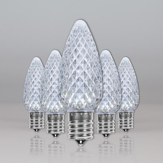 C9 Cool White OptiCore LED Christmas Light Bulbs