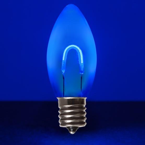 Vintage Christmas Lights.C9 Blue Acrylic Flexfilament Tm Led Vintage Christmas Light Bulb Transparent