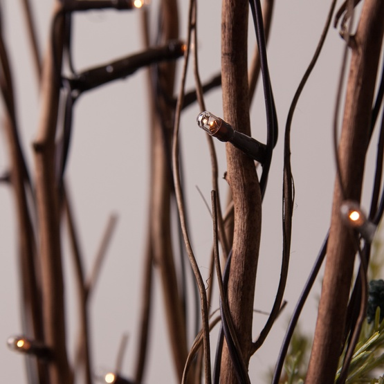 Brown Lighted Branches With Clear Rice Lights