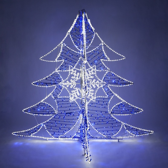 6 blue and white led ice crystal tree - Blue And White Outdoor Christmas Decorations