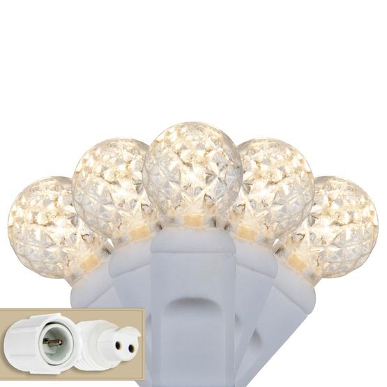LED Christmas Lights - Commercial 25 G12 Warm White LED String ...