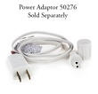"""Commercial 25 M5 Warm White LED Christmas Lights, 4"""" Spacing, White Wire"""