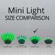 "70 G12 Green LED String Lights, 4"" Spacing"