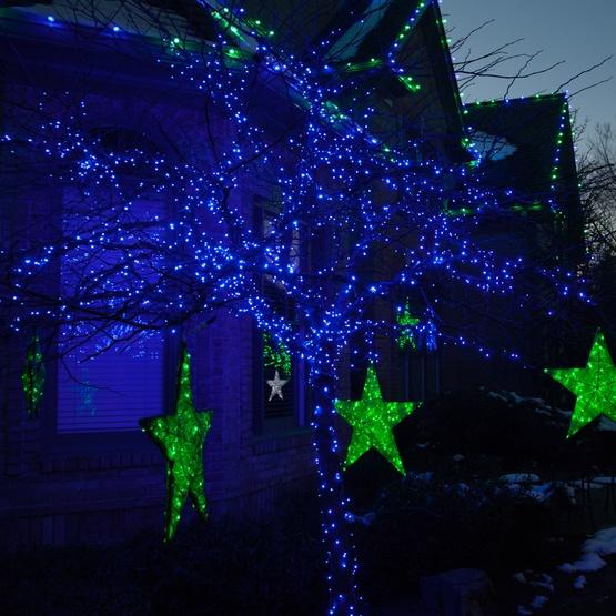 50 Blue Christmas Lights, LED Mini