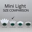 """70 M5 Cool White LED Christmas Lights, 4"""" Spacing"""