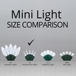 "50 T5 Cool White LED Christmas Tree Lights, 4"" Spacing"
