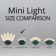 "50 T5 Warm White LED Christmas Tree Lights, 6"" Spacing"