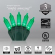 "50 T5 Green LED Christmas Tree Lights, 6"" Spacing"