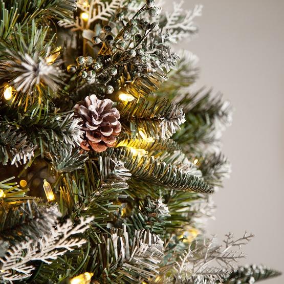 Frosted Alpine Prelit Tree Christmas Lights Etc