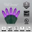 """50 T5 Purple LED Christmas Tree Lights, 6"""" Spacing"""