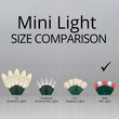 "70 5mm Red, Cool White LED Christmas Lights, 4"" Spacing"