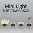 """70 5mm Pink LED Christmas Lights, 4"""" Spacing"""
