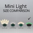 """70 5mm Green LED Halloween Lights, 4"""" Spacing, Black Wire"""