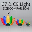 """Commercial 25 Multi Color C9 LED Christmas Lights, 12"""" Spacing"""