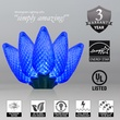 """Commercial 25 Sapphire Blue C9 LED Christmas Lights, 12"""" Spacing"""