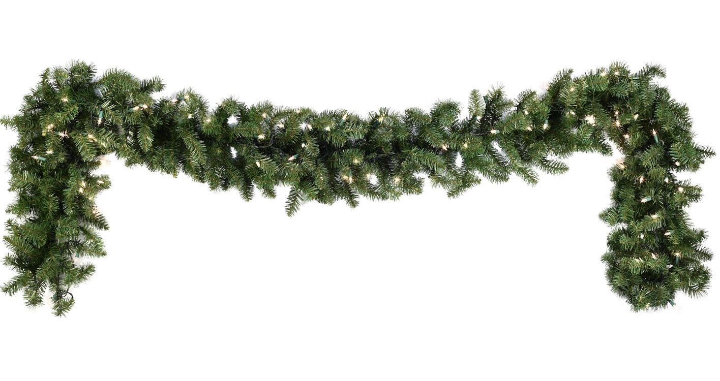 Lighted christmas garland douglas fir prelit christmas garland