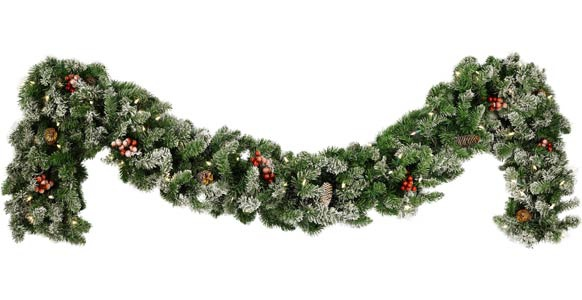 Decorative Garland - Hawthorne Prelit Christmas Garland, Clear Lights