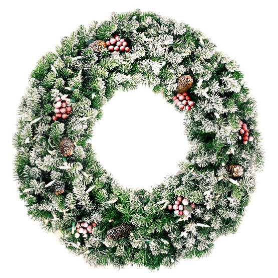 Decorative Wreaths Hawthorne Prelit Christmas Wreath Clear Lights