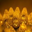 """70 C6 Gold LED String Lights, 4"""" Spacing"""