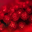 "70 G12 Red LED String Lights, 4"" Spacing"