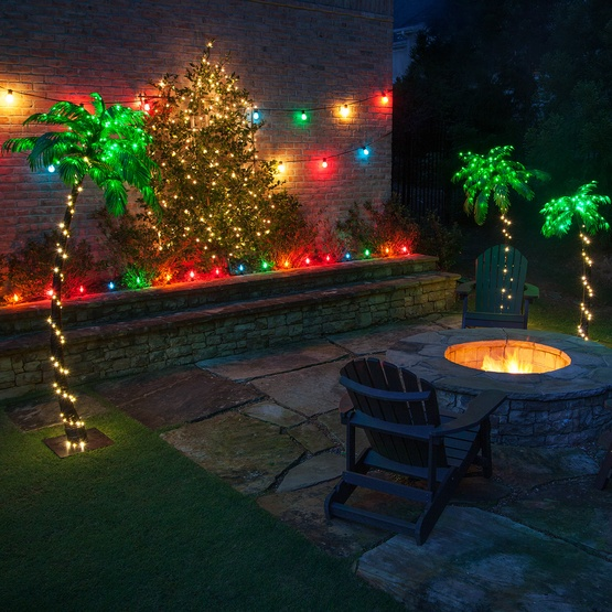 Christmas Lights In Palm Trees.Led Curved Lighted Palm Tree